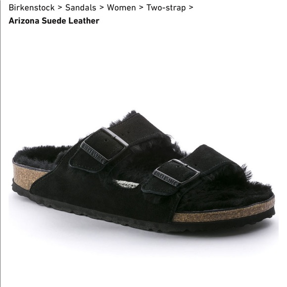 Birkenstock Shoes | Arizona Shearling Black 39 | Poshmark